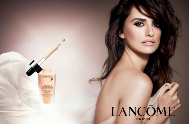 Penelope Cruz for Lancôme's Miracle Air de Teint foundation