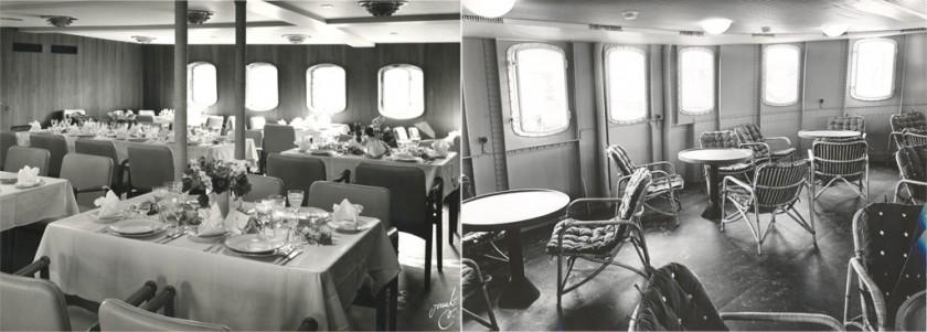 Interiören ombord på Östersöen