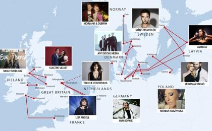 Eurovision Song Contest-deltagare på våra destinationer