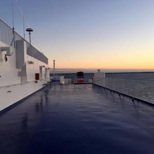 På väg mot The Reef med Stena Jutlantica