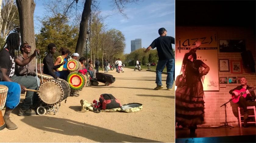 Musik i parkerna & flamenco på klubb