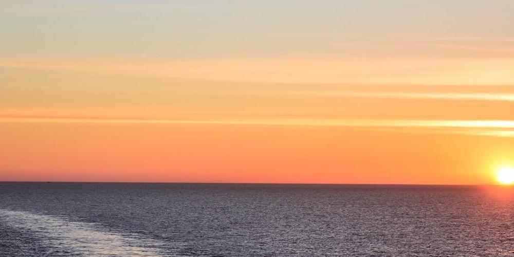 Solnedgång - Stena Line