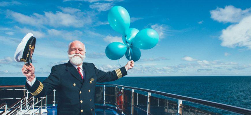 Kapten Kenneth gillar julen på Stena Line