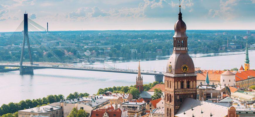 Utsikt över Rigas arkitektur