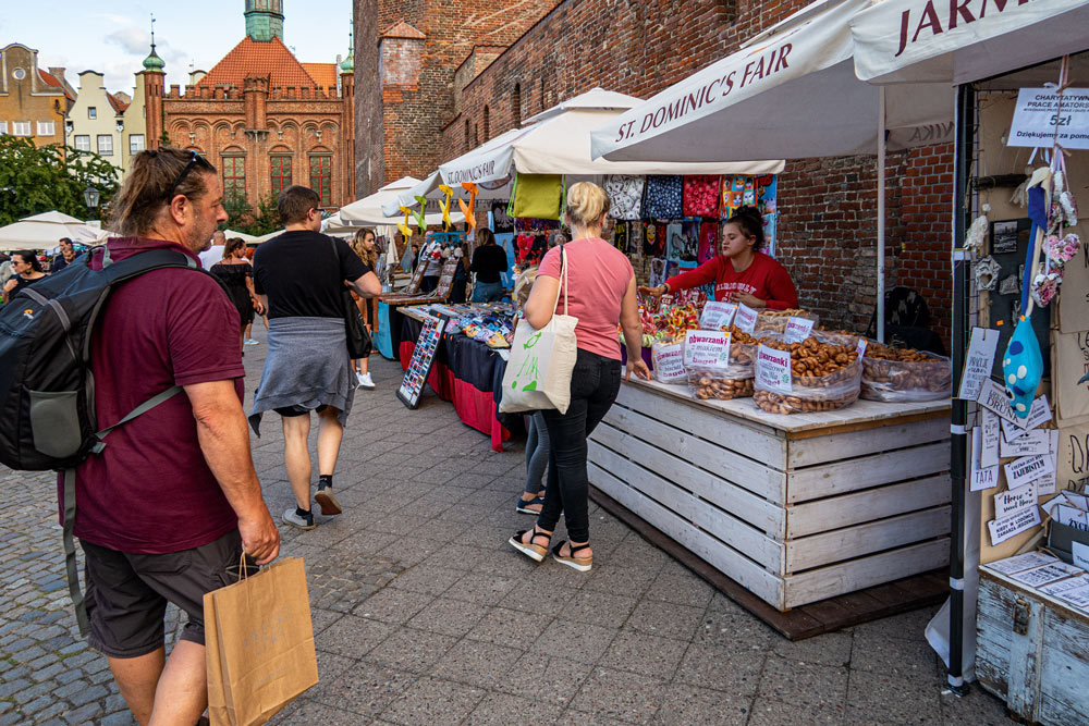 Folkmyller i gamla stan, Gdansk.