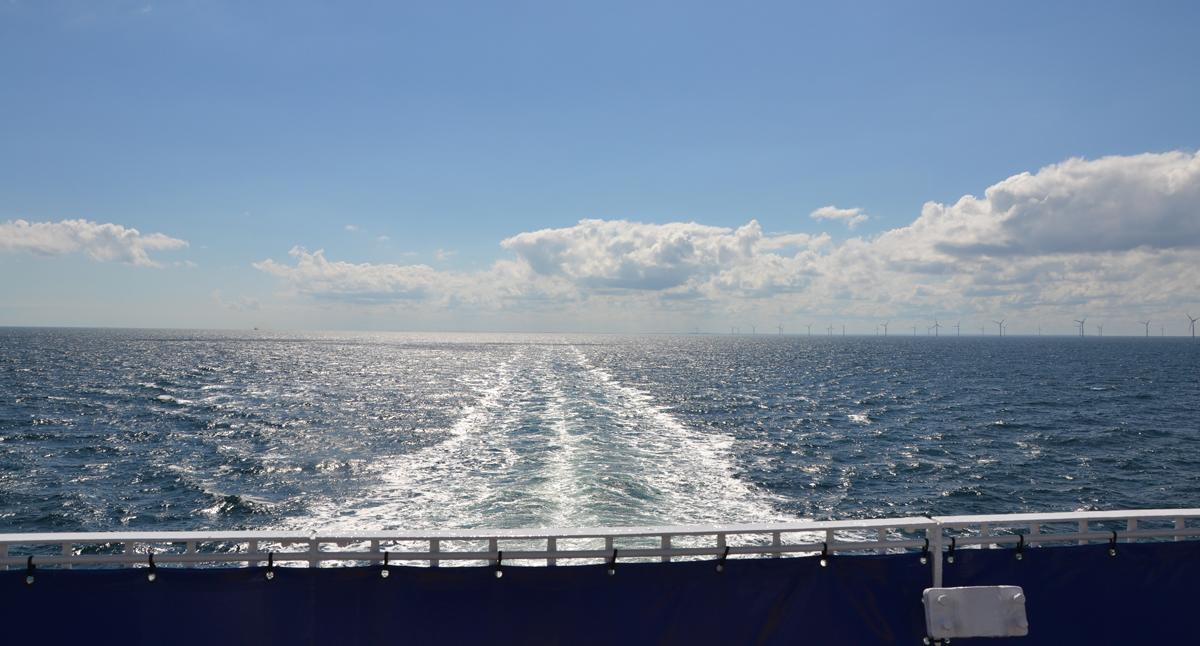 Stena Nautica lämnar Varberg